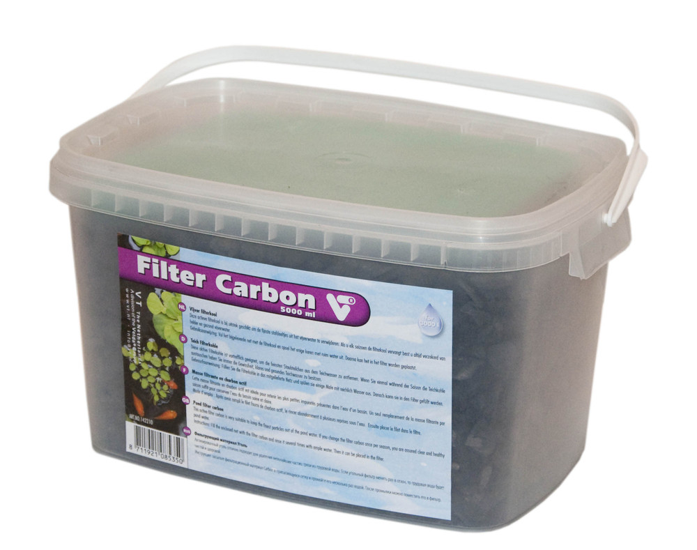 Actief kool filtermateriaal voor vijvers 5000 ml online for Filter voor vijver